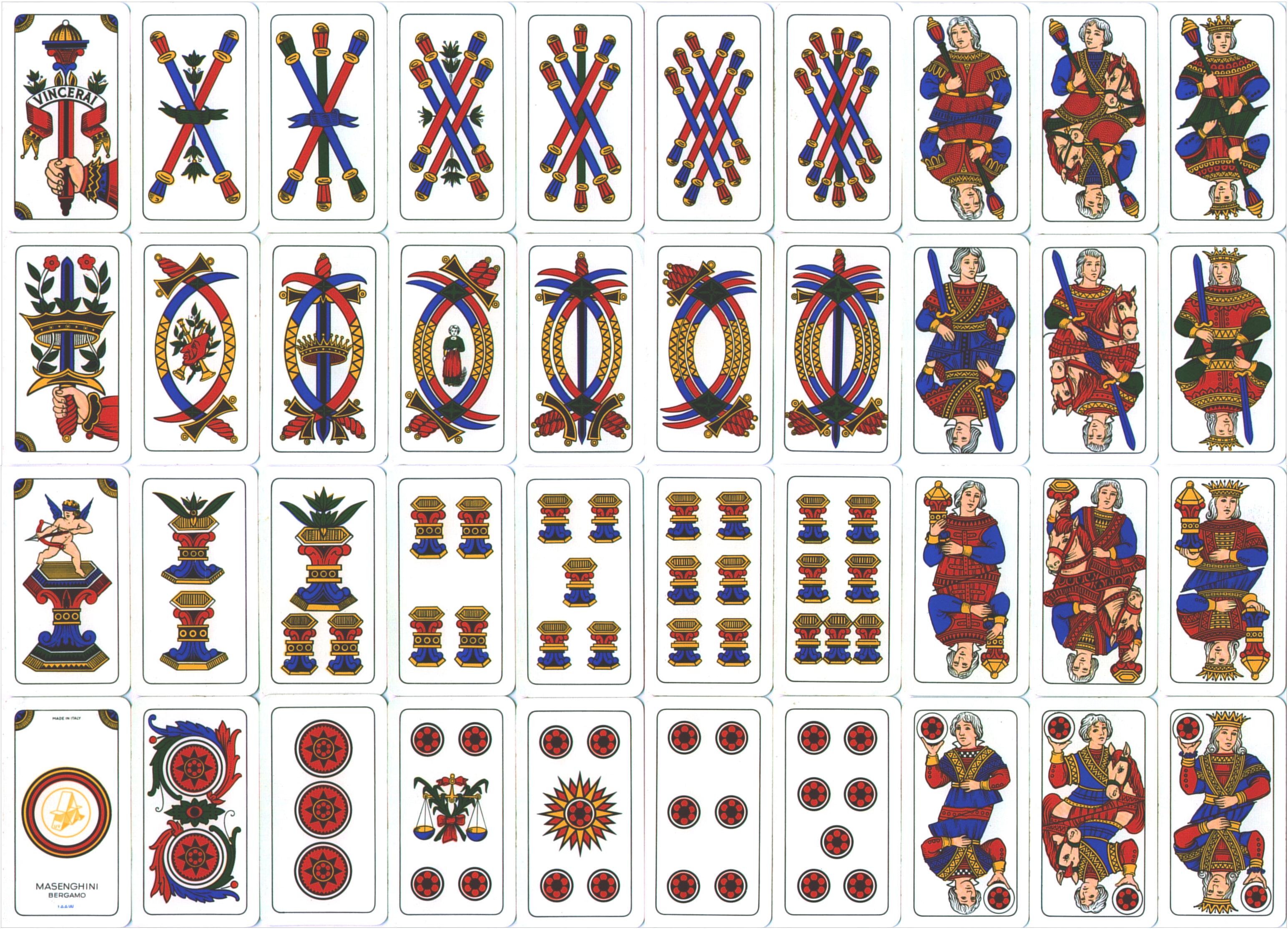 Arcanos Menores - Tarot de Marsella
