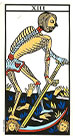 La Muerte - Tarot de Marsella