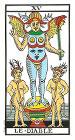 El Diablo - Tarot de Marsella