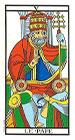El Papa o Sumo Sacerdote - Tarot de Marsella