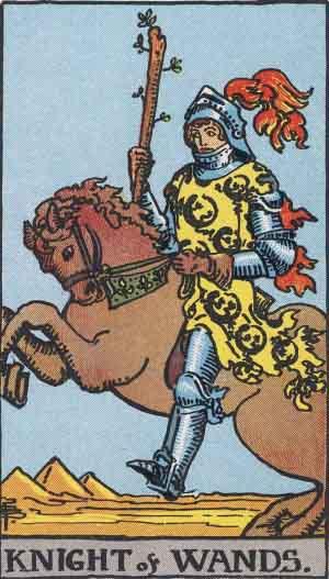 Caballo de Bastos - Tarot Rider Waite