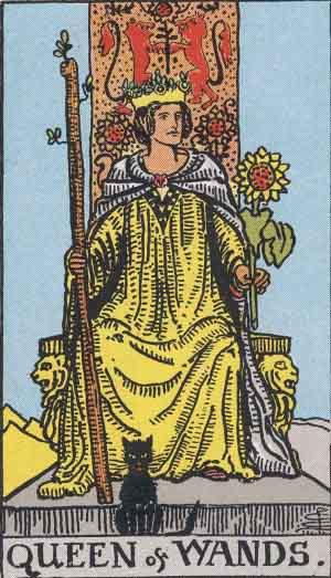 Reina de Bastos - Tarot Rider Waite