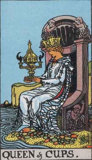 Reina de Copas - Tarot Rider Waite