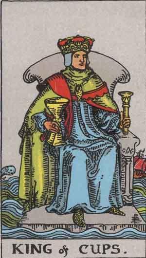 Rey de Copas - Tarot Rider Waite