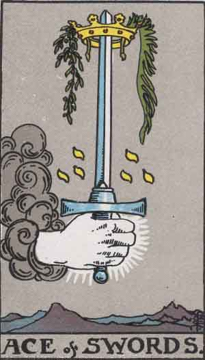 As de Espadas - Tarot Rider Waite