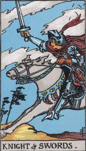 Caballo de Espadas - Tarot Rider Waite