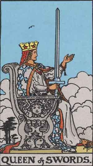 Reina de Espadas - Tarot Rider Waite