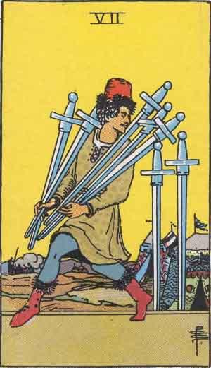 7 de Espadas - Tarot Rider Waite