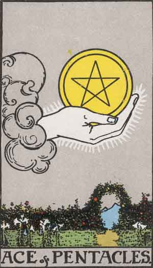 As de Oros - Tarot Rider Waite