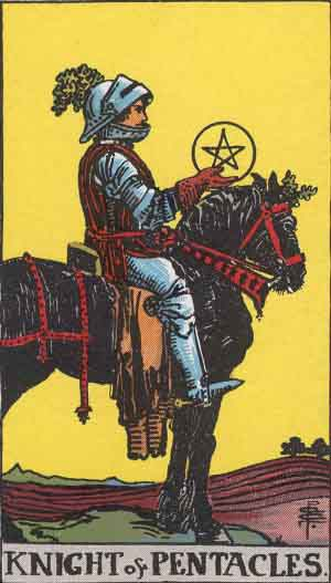 Caballo de Oros - Tarot Rider Waite