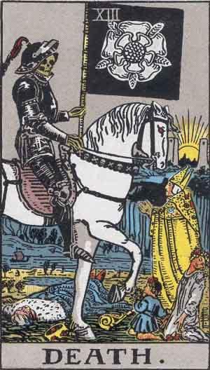 La Muerte - Tarot Rider Waite