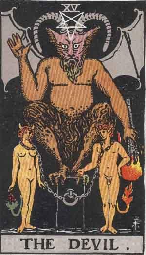 El Diablo - Tarot Rider Waite