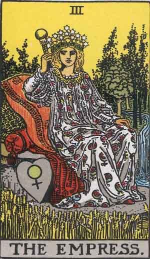 La Emperatriz - Tarot Rider Waite